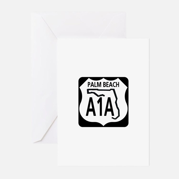 A1A Palm Beach Greeting Cards (Pk of 10)