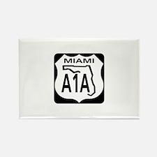 A1A Miami Rectangle Magnet