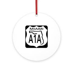 A1A Miami Ornament (Round)
