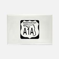 A1A Marathon Key Rectangle Magnet