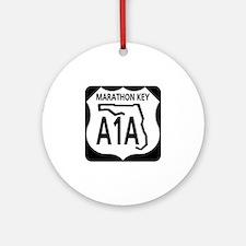 A1A Marathon Key Ornament (Round)