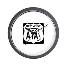A1A Key West Wall Clock