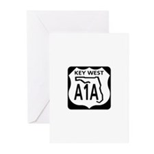 A1A Key West Greeting Cards (Pk of 10)