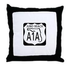 A1A Juno Beach Throw Pillow