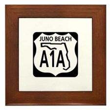 A1A Juno Beach Framed Tile