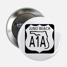 """A1A Juno Beach 2.25"""" Button"""