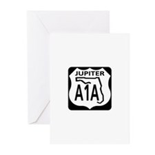 A1A Jupiter Greeting Cards (Pk of 10)