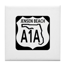 A1A Jensen Beach Tile Coaster