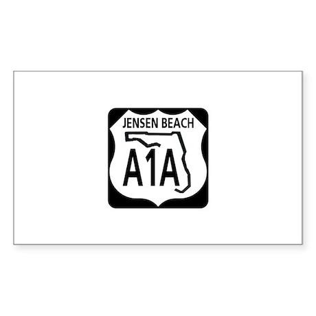 A1A Jensen Beach Rectangle Sticker