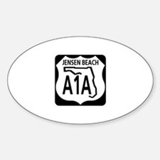 A1A Jensen Beach Oval Decal
