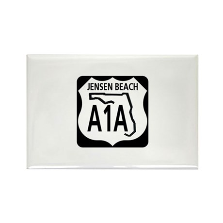 A1A Jensen Beach Rectangle Magnet (100 pack)