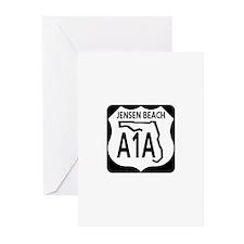 A1A Jensen Beach Greeting Cards (Pk of 10)