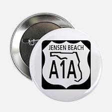 """A1A Jensen Beach 2.25"""" Button"""