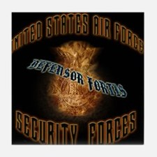 Security Forces Flame Badge Tile Coaster