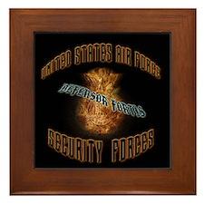 Security Forces Flame Badge Framed Tile
