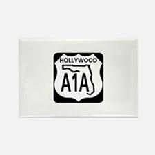 A1A Hollywood Rectangle Magnet