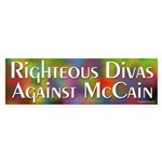 Righteous Divas Against McCain bumper sticker