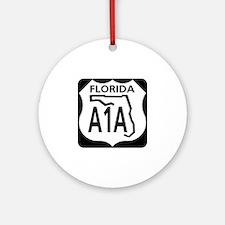A1A Florida Ornament (Round)