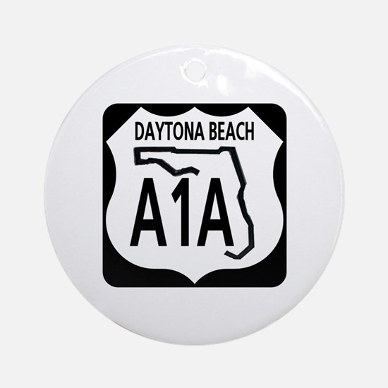 A1A Daytona Beach Ornament (Round)