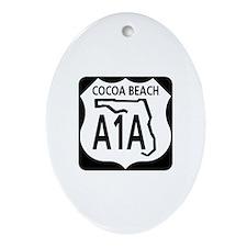A1A Cocoa Beach Oval Ornament