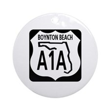 A1A Boynton Beach Ornament (Round)