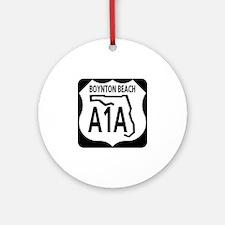A1A Boynton Beach Ornament (Round)