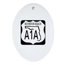 A1A Boynton Beach Oval Ornament
