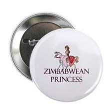 """Zimbabwean Princess 2.25"""" Button"""