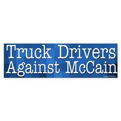 Truck Drivers Against McCain bumper sticker
