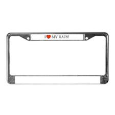Rats License Plate Frame