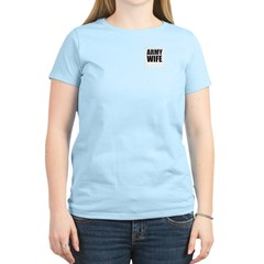 Army Wife ~ Women's Pink T-Shirt