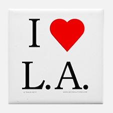 I Love LA Tile Coaster