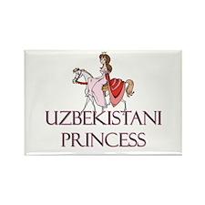 Uzbekistani Princess Rectangle Magnet