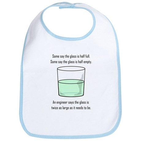 The Glass is Too Large Bib