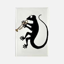 Gecko Trumpet Rectangle Magnet