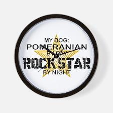 Pomeranian Rock Star Wall Clock