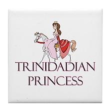 Trinidadian Princess Tile Coaster