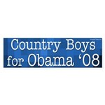 Country Boys for Obama '08 bumper sticker