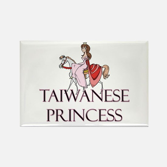 Taiwanese Princess Rectangle Magnet