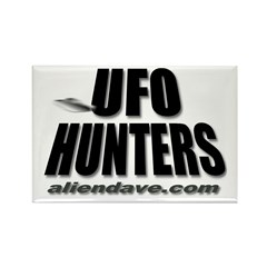 UFO Hunters Rectangle Magnet