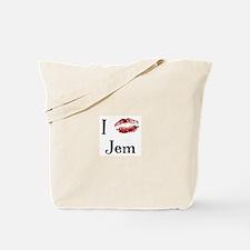 I Kissed Jem Tote Bag