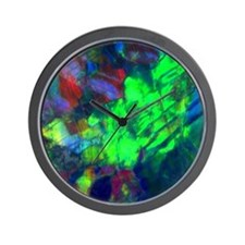 Australian Black Opal Detail Wall Clock