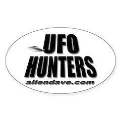 UFO Hunters Oval Decal