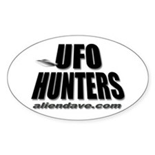 UFO Hunters Oval Decal