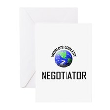 World's Coolest NEGOTIATOR Greeting Cards (Pk of 1