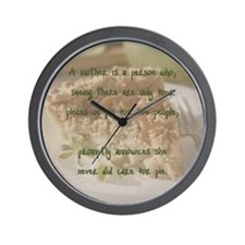Mother's pie Wall Clock