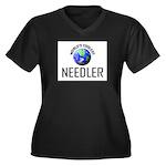 World's Coolest NEEDLER Women's Plus Size V-Neck D