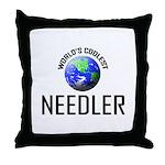 World's Coolest NEEDLER Throw Pillow