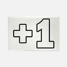 +1 Plus 1 Rectangle Magnet