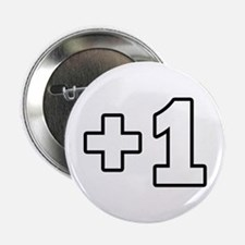 """+1 Plus 1 2.25"""" Button"""